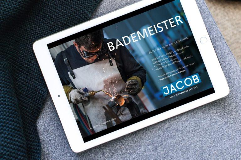 Jacob Rohrsysteme · Anzeigen-Konzept · Grafikstudio Carreira · Susi Carreira · Werbeagentur Bad Oeynhausen · Minden · Bünde