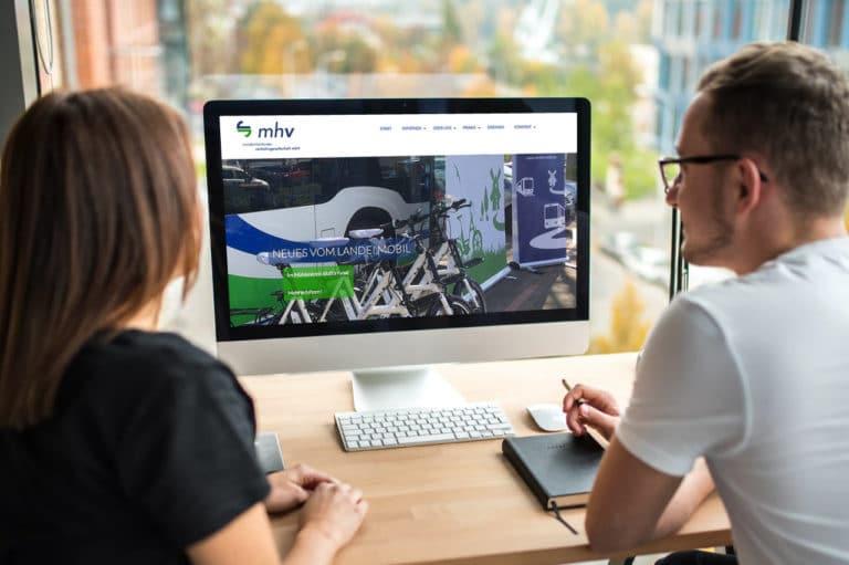 mhv Minden-Herforder Verkehrsgesellschaft · Webdesign · Grafikstudio Carreira · Susi Carreira · Werbeagentur Bad Oeynhausen · Minden · Bünde