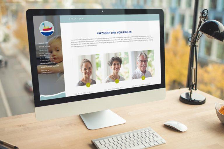 Kinderarztpraxis am Kantplatz · Drs. Henningsen & Mir · Logodesign ·Praxismarketing · Webdesign · Grafikstudio Carreira · Susi Carreira · Werbeagentur Bad Oeynhausen · Minden · Bünde