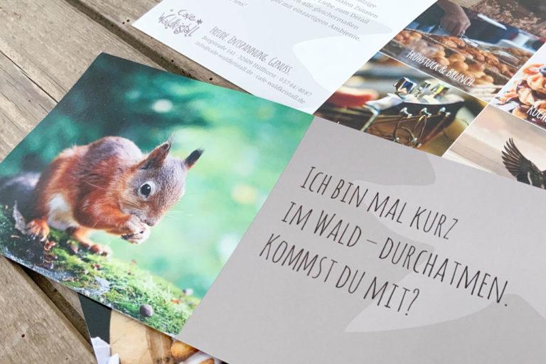 Café Waldkristall · Corporate Design · Webdesign · Grafikstudio Carreira · Susi Carreira · Werbeagentur Bad Oeynhausen · Minden · Bünde