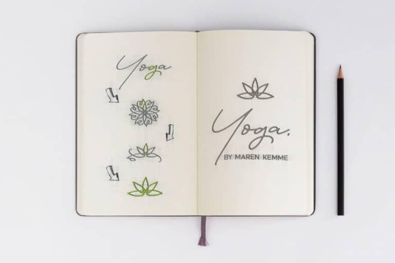 Maren Kemme · Yoga Minden · Logo Design · Corporate Design · Grafikstudio Carreira · Susi Carreira · Werbeagentur Bad Oeynhausen · Minden · Bünde
