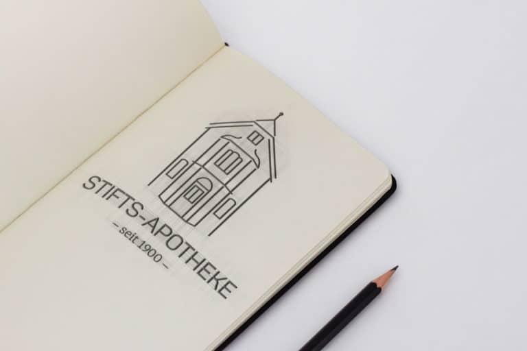 Stifts-Apotheke · Logo Design · Corporate Design · Grafikstudio Carreira · Susi Carreira · Werbeagentur Bad Oeynhausen · Minden · Bünde