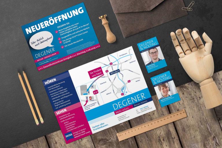 Degener · Beschriftung · Anzeigen · Webdesign · Logo-Design · Grafikstudio Carreira · Susi Carreira · Werbeagentur Bad Oeynhausen · Minden · Bünde
