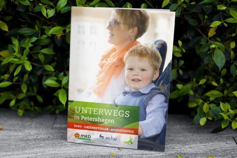 Mindener Kreisbahnen GmbH · Liniennetzplan Petershagen · Broschüre · Grafikstudio Carreira · Susi Carreira · Werbeagentur Bad Oeynhausen · Minden · Bünde