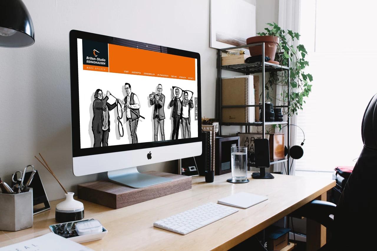 Brillen-Studio Eidinghausen · Webdesign · Grafikstudio Carreira · Susi Carreira · Werbeagentur Bad Oeynhausen · Minden · Bünde
