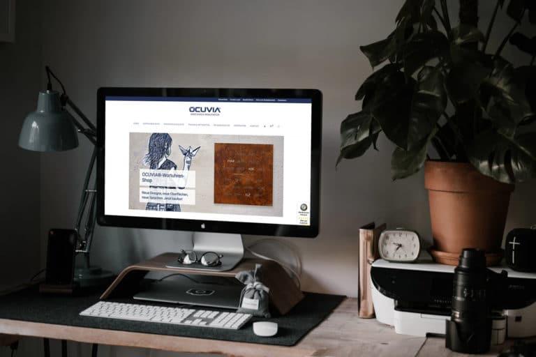 Ocuvia.de · Webdesign · Online-Shop · Grafikstudio Carreira · Susi Carreira · Werbeagentur Bad Oeynhausen · Minden · Bünde