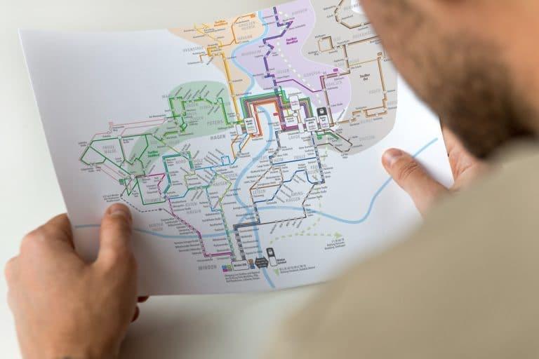 Liniennetzplan für Minden