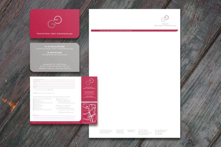 Drs. Grimaldi · Praxismarketing · Praxisbeschriftung · Logo-Design · Grafikstudio Carreira · Susi Carreira · Werbeagentur Bad Oeynhausen · Minden · Bünde