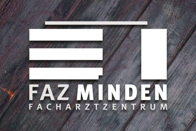 Facharztzentrum Minden (FAZ Minden) · Logo-Design · Wegeleitsystem · Signaletik · Grafikstudio Carreira · Susi Carreira · Werbeagentur Bad Oeynhausen · Minden · Bünde