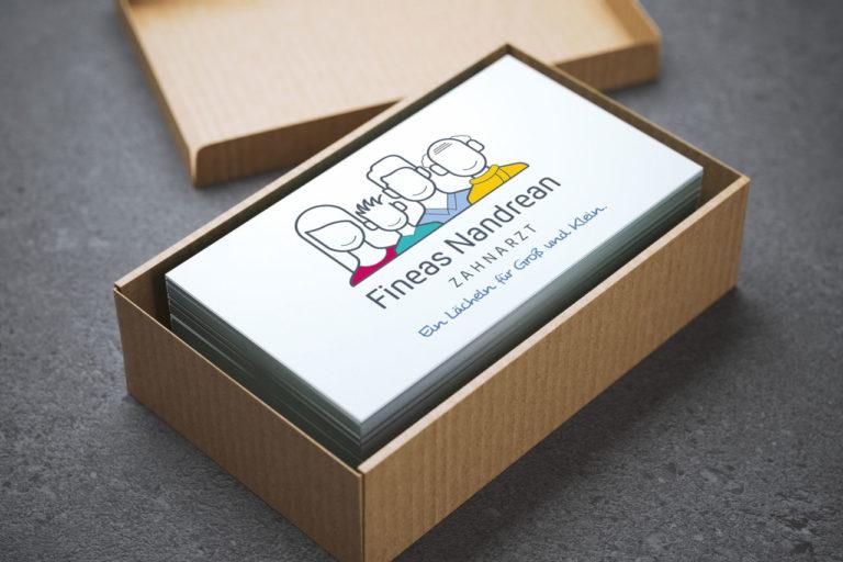 Fineas Nandrean · Logo-Design · Praxisbeschriftung · Grafikstudio Carreira · Susi Carreira · Werbeagentur Bad Oeynhausen · Minden · Bünde