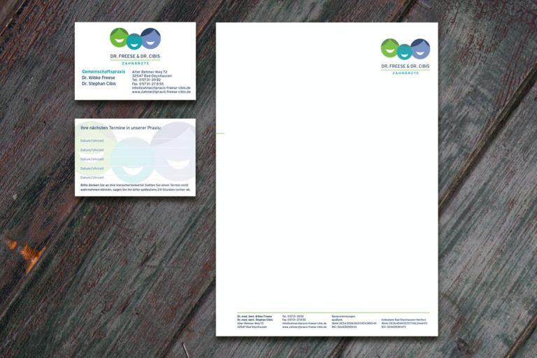 Drs. Cibis & Freese · Logo-Design · Praxismarketing · Grafikstudio Carreira · Susi Carreira · Werbeagentur Bad Oeynhausen · Minden · Bünde