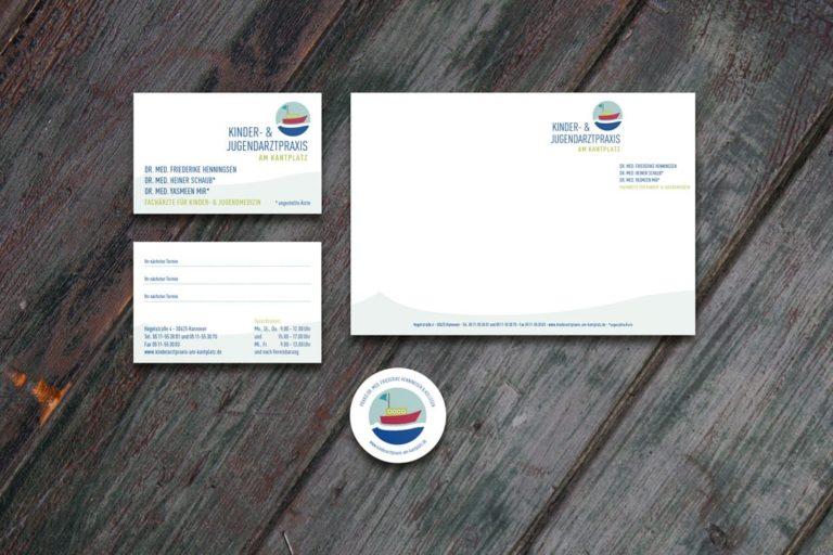 Kinderarztpraxis am Kantplatz · Drs. Henningsen & Mir · Logodesign · Praxismarketing · Webdesign · Grafikstudio Carreira · Susi Carreira · Werbeagentur Bad Oeynhausen · Minden · Bünde