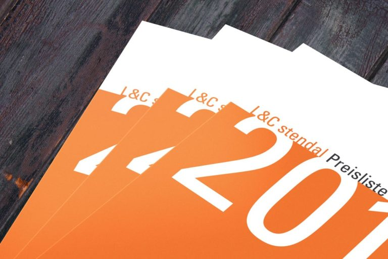 L&C Stendal ·Katalog ·Typen-& Preislistendesign · Grafikstudio Carreira · Susi Carreira · Werbeagentur Bad Oeynhausen · Minden · Bünde