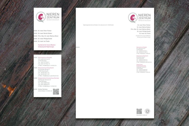 Nierenzentrum Reinbek & Geesthacht · Logo-Design · Praxismarketing · Grafikstudio Carreira · Susi Carreira · Werbeagentur Bad Oeynhausen · Minden · Bünde