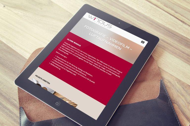 Relaunch der Website von Oliver Windus Fotodesign aus Löhne