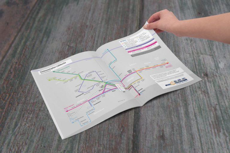 Stadt Lübbecke · Liniennetzplan Schulfahrten· Grafikstudio Carreira · Susi Carreira · Werbeagentur Bad Oeynhausen · Minden · Bünde