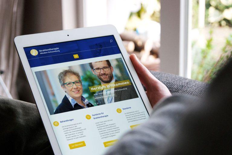 Relaunch der Website der Praxis für Strahlentherapie aus Minden und Stadthagen
