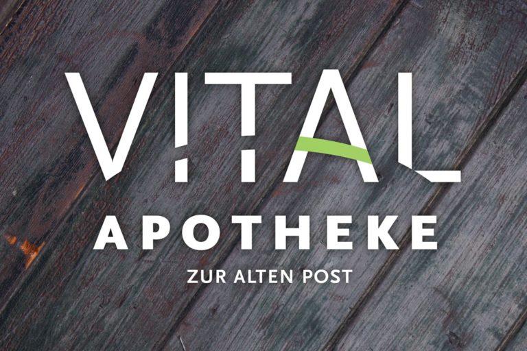 Vital Apotheke · Logo-Entwicklung · Apotheken-Beschriftung · Grafikstudio Carreira · Susi Carreira · Werbeagentur Bad Oeynhausen · Minden · Bünde
