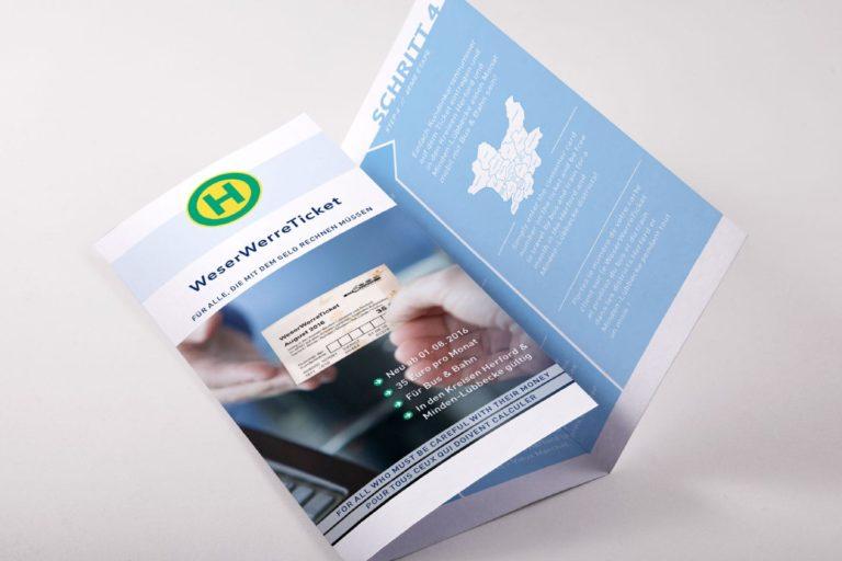 Broschüre zur Einführung des Weser Werre Tickets, mhv Bad Oeynhausen