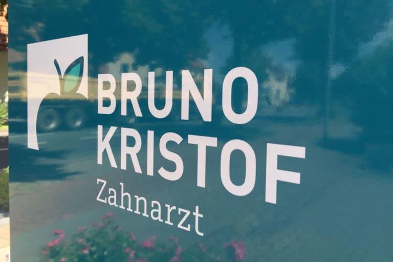 Bruno Kristof · Logo-Design · Praxisbeschriftung · Grafikstudio Carreira · Susi Carreira · Werbeagentur Bad Oeynhausen · Minden · Bünde