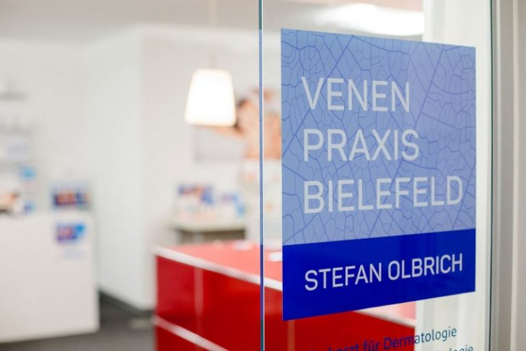Venenpraxis Bielefeld · Stefan Olbrich · Webdesign · Praxislogo · Praxismarketing · Grafikstudio Carreira · Susi Carreira · Werbeagentur Bad Oeynhausen · Minden · Bünde