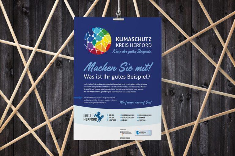 Kreis Herford · Klimaschutz Logo · Grafikstudio Carreira · Susi Carreira · Werbeagentur Bad Oeynhausen · Minden · Bünde