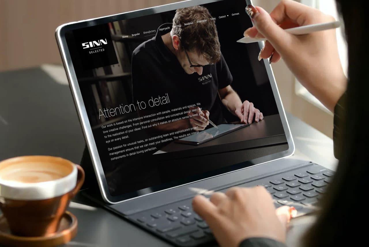 SINN LIVING · SINN SELECTED · Corporate Design · Markenbildung · Relaunch· Webdesign · Grafikstudio Carreira · Susi Carreira · Werbeagentur Bad Oeynhausen · Minden · Bünde