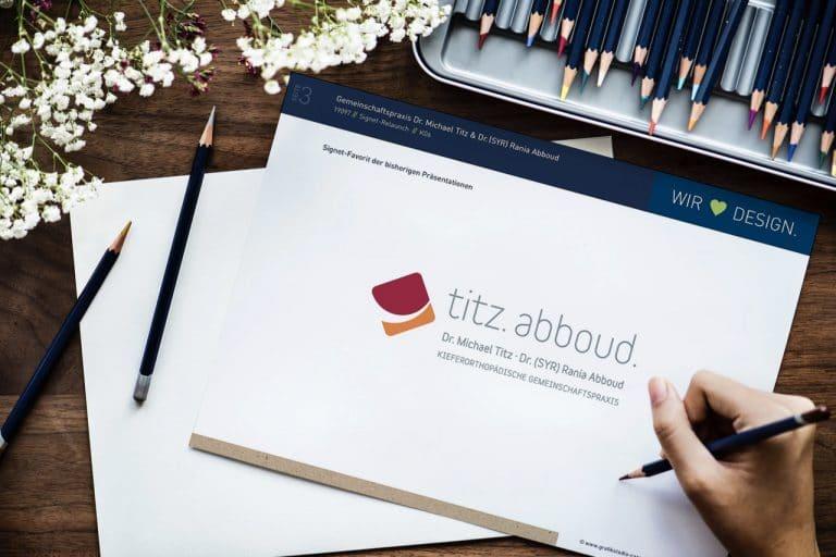 mhv Minden-Herforder VerkDrs. Titz & Abboud · Kieferorthopädie · Corporate Design · Praxislogo · Grafikstudio Carreira · Susi Carreira · Werbeagentur Bad Oeynhausen · Minden · Bünde